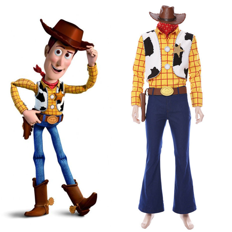 Toy Story Cosplay Woody Costume Cowboy Suit