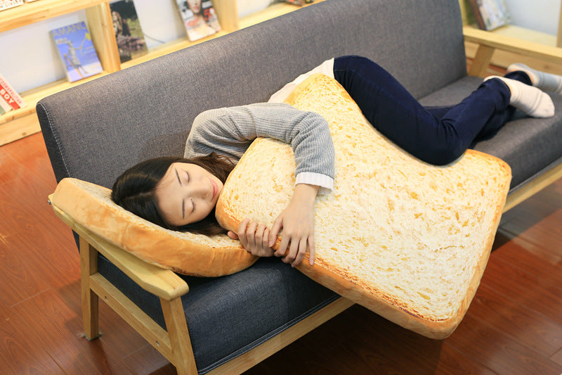 Sleeping Cotton Simulation Bread Slices Cat Plush Toy Toast Cushion Soft Pillow Sleep Mat Pet Supplies Christmas gift