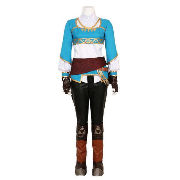 The Legend of Zelda Breath of the Wild Princess Zelda Cosplay Costume Custom Made