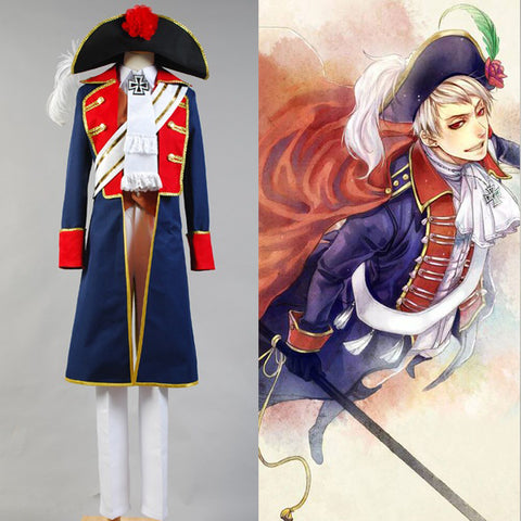 Hetalia: APH Axis Powers Prussia Cosplay Costume