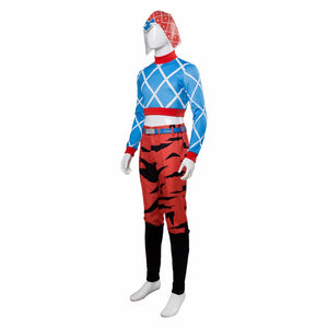 JoJo's Bizarre Adventure: Golden Wind Guido Mista Cosplay Costume Men's Jumpsuit Outfit