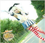 Load image into Gallery viewer, Kantai Collection Cosplay Shimakaze Costume Sexy Sailor Suit Full Uniform with Headwear Socks
