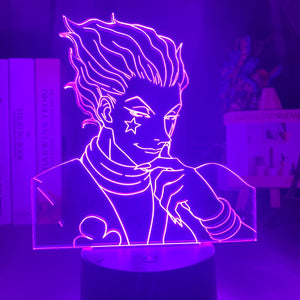 Kids Night Light Gift Led Touch Sensor Colorful Bedroom Nightlight Anime Hunter X Hunter Decor Light Cool 3d Lamp Hisoka Gadgets