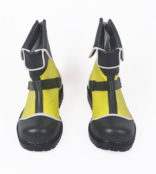 Kingdom Hearts 3 Sora Yellow Cosplay Boots Shoes Custom Made