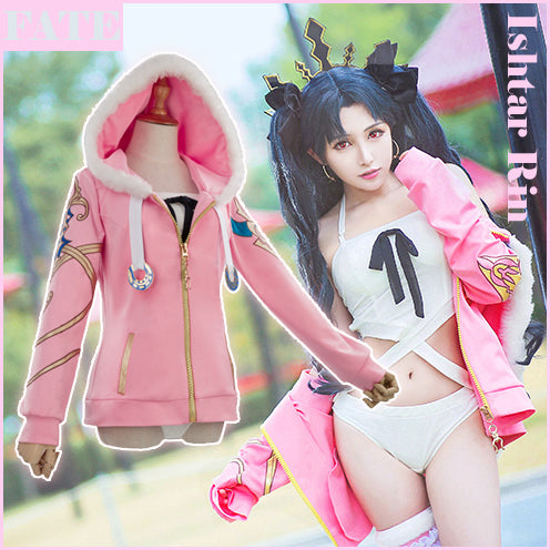Fate Grand Order FGO figure Ishtar Rin Swimsuit Hoodie Jacket Daily Cosplay costume