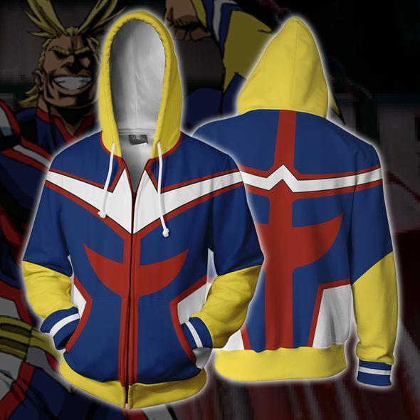 My Hero Academia Boku no Hero Academia Cosplay Costumes All Might Sweatshirt Hoodie