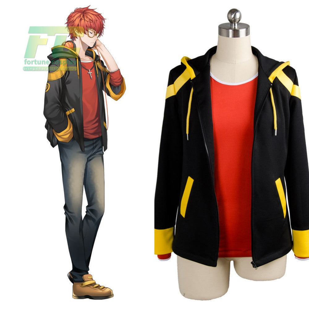 Mystic Messenger 707 cosplay hoodie costume Custom Made