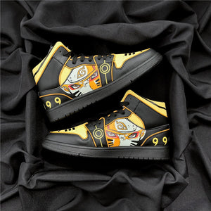 NARUTO Shoes Men Uzumaki Naruto Sneakers Anime & Comic Casual Shoes Cosplay Kurama Shoes Sneaker Cool