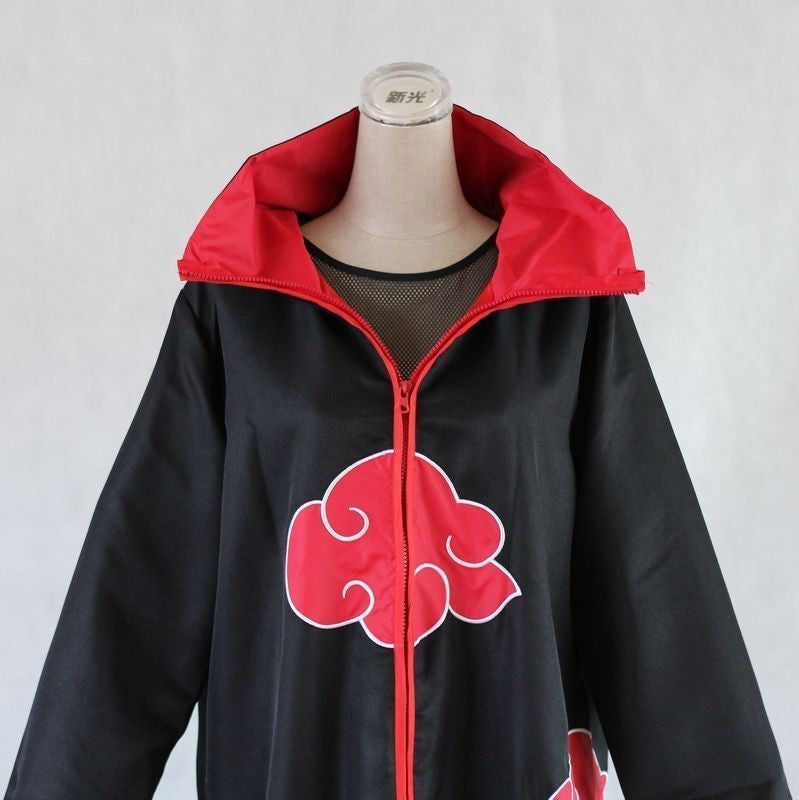 Naruto Akatsuki /Uchiha Itachi Cosplay Halloween Christmas Party Costume Cloak Cape