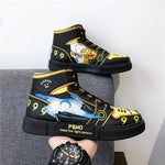 Load image into Gallery viewer, Naruto Shoes Men Anime Shoes Akatsuki Itachi Casual Shoes Sasuke Hashirama Sneakers Kakashi  Cosplay Shoes