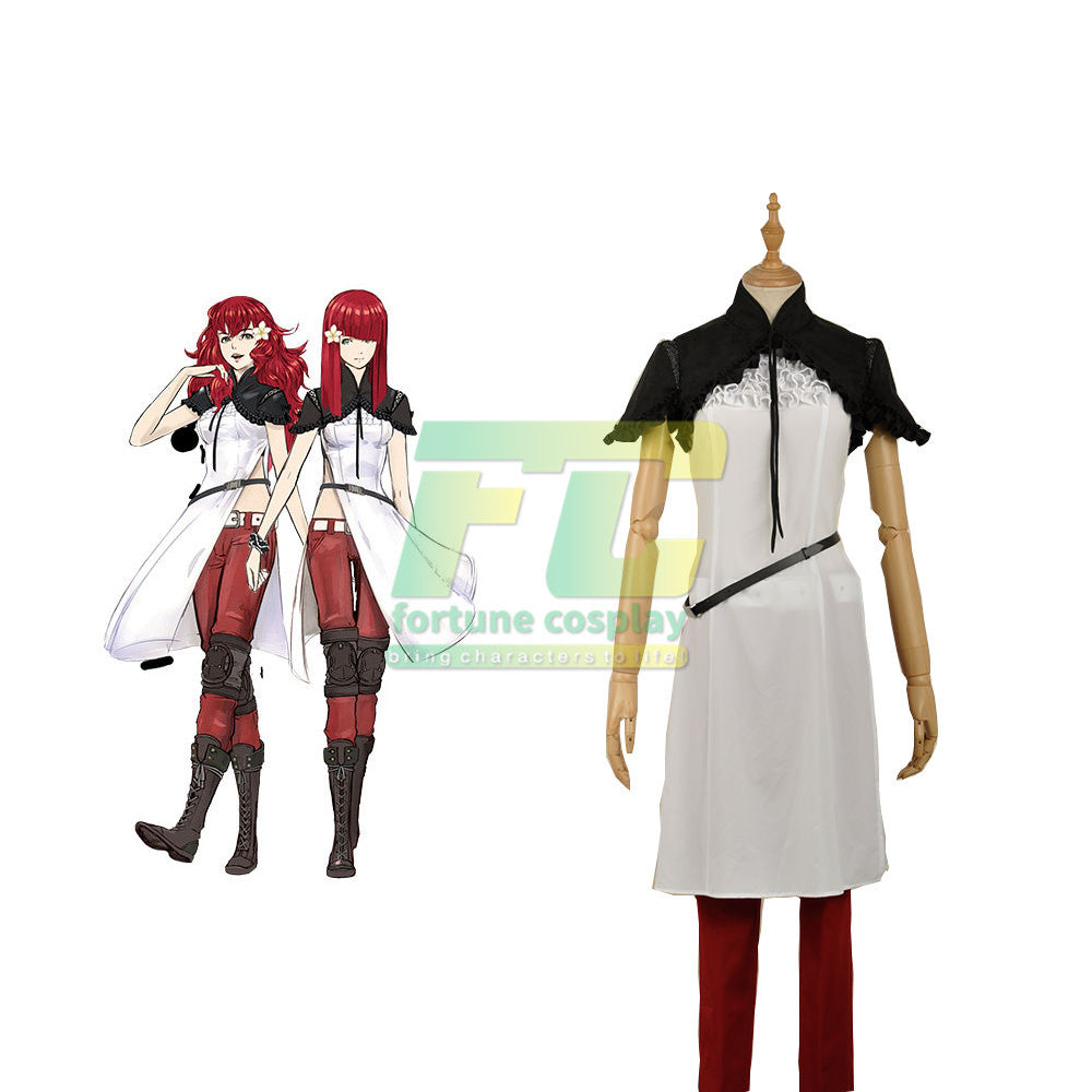NieR: Automata Devola Popola Uniform Dress Outfit Games Cosplay Costume