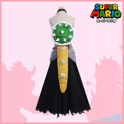 Bowsette cosplay dress Kuppa Hime Bowser Koopa Costume Crown Horn Princess bowser Full Set