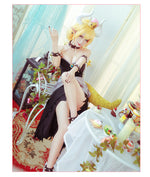 Load image into Gallery viewer, Bowsette cosplay dress Kuppa Hime Bowser Koopa Costume Crown Horn Princess bowser Full Set
