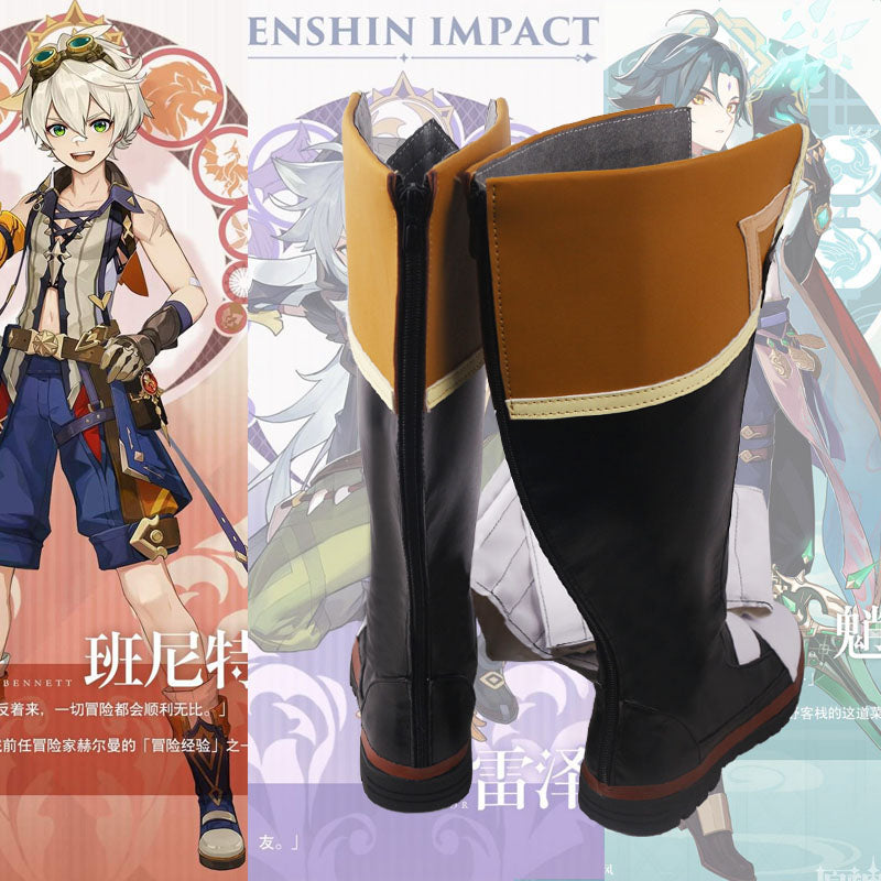 Genshin Impact Bennett Cosplay Shoes Boots Halloween Carnival Cosplay Costume Accessories