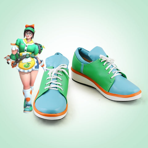 OW  Overwatch Mei Cosplay Shoes Honeydew Skin