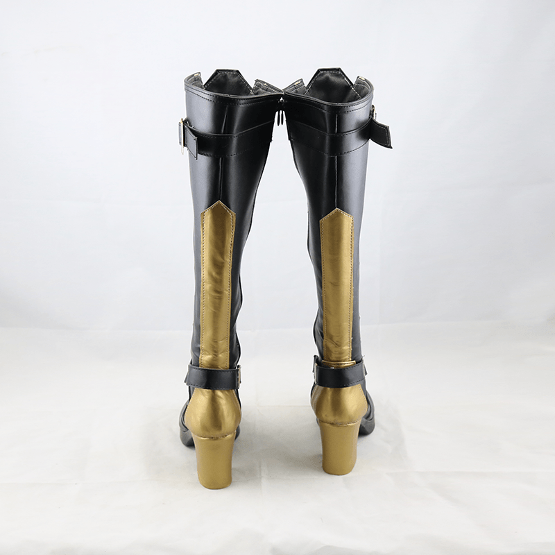 Overwatch OW New Hero Ashe Black Shoes Cosplay Boots