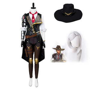 Free Shipping Overwatch OW New Hero Ashe Cosplay Costume