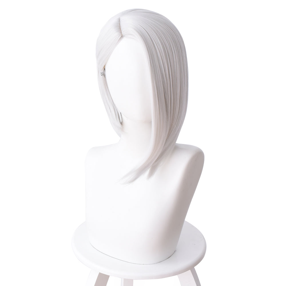 OW Ashe Overwatch Cosplay Wig Sliver White