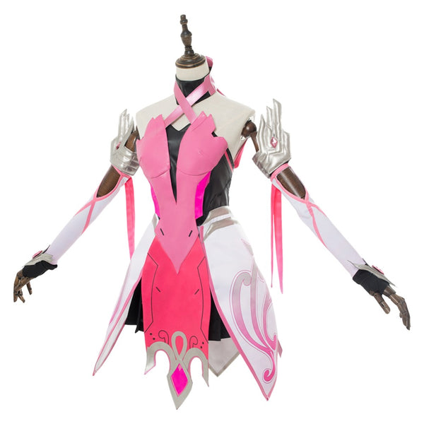 OW Cosplay Mercy Angela Ziegler Costumes Adult Women Outfit Pink