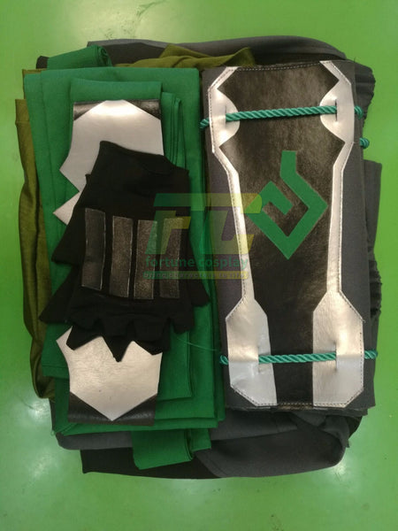 Overwatch OW Genji Sparrow Cosplay Costume Custom Made