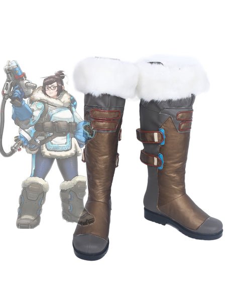 OW Mei Cosplay Boots Shoes Custom Made Any Size