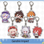 Load image into Gallery viewer, Game Genshin Impact Acrylic Keychain Mengpa Mondstadt Theme Cartoon Key Chain Cute Pendant Keyring Jewelry