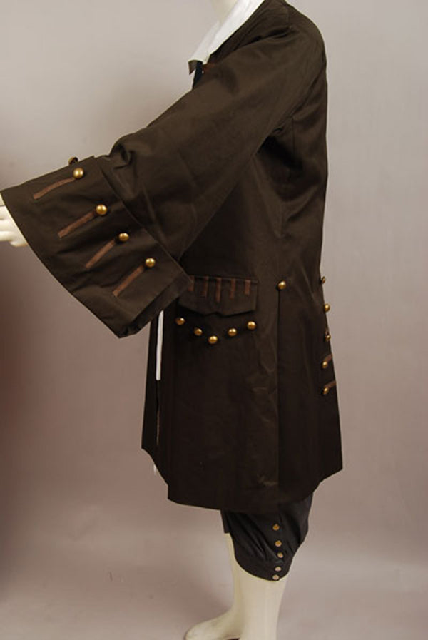 Pirates Of The Caribbean Cosplay Costume Captain Jack Sparrow Cosplay Costume