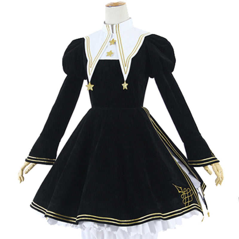 Cardcaptor Card Captor Sakura Kinomoto Sakura Cosplay Costume Gothic Lolita Dress