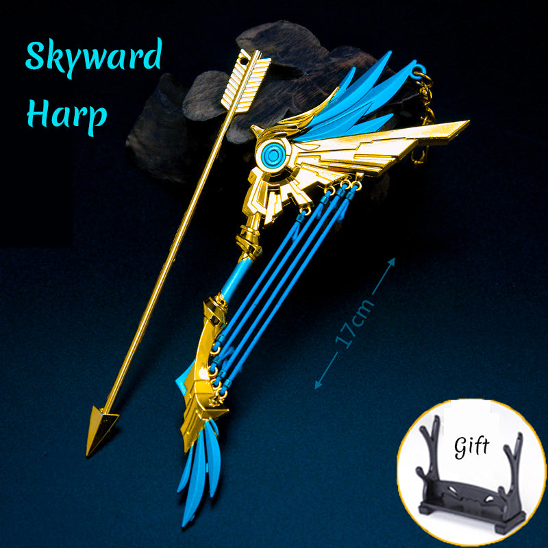 Genshin Impact Weapon Keychain Wolf's Gravestone Skyward Blade Weapons Keycharm Birthday Christmas Gift