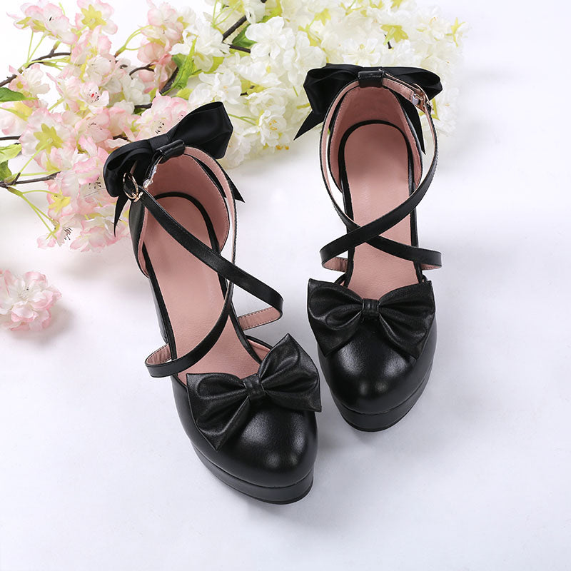 OW D.VA New  Black Cat Lolita Black Shoes Cosplay Shoes Overwatch DVA