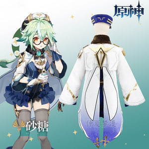 Game Genshin Impact Sucrose Cosplay Costume