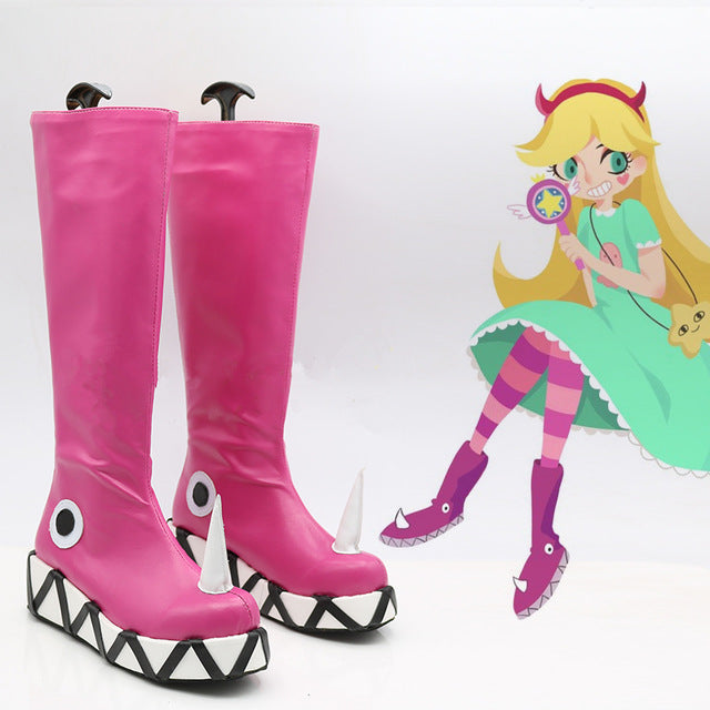 Star vs.the Forces of Evil Princess Star Butterfly Magic Cosplay Shoes Boots