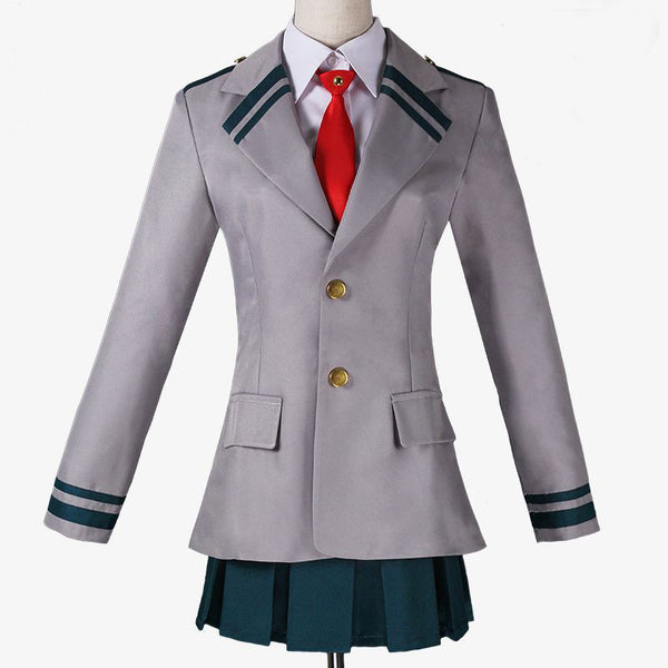 My Hero Academia OCHACO URARAKA Asui Tsuyu School Uniform Cosplay Costume Boku No Hero Academia