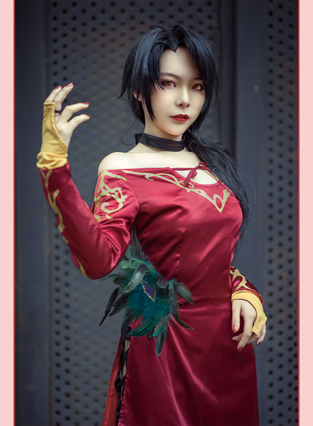 RWBY Cinder Fall Cosplay Costume Halloween Rose Sexy Dress