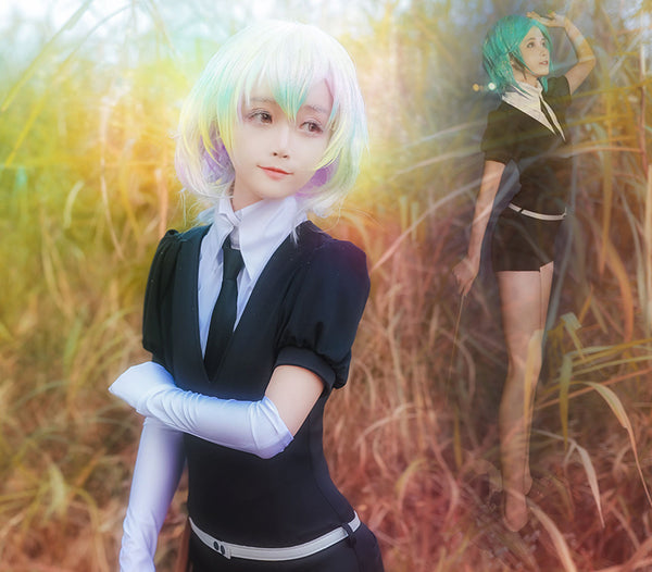 Land of the Lustrous Houseki no Kuni Phosphophyllite Cinnabar Diamond Bort Morganite jumpsuits Suits Coat Jacket Uniform Anime Cosplay Costumes