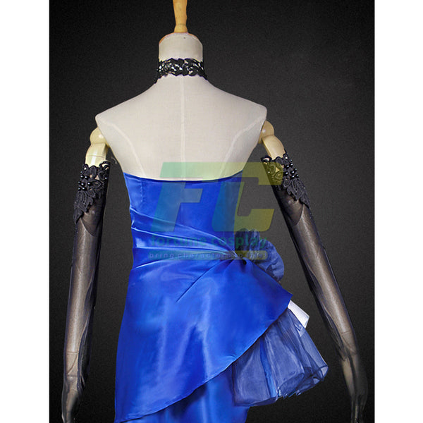 Fate extella fate zero saber cosplay costume Fate Grand Order blue party dress