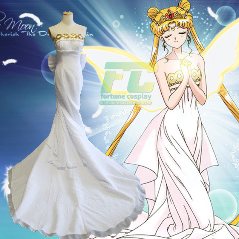Sailor Moon Princess Serenity Dress Tsukino Usagi Cosplay Costume - fortunecosplay