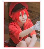Load image into Gallery viewer, Cells at Work Hataraku Saibou Erythrocite Red Blood Cell Cosplay Costume