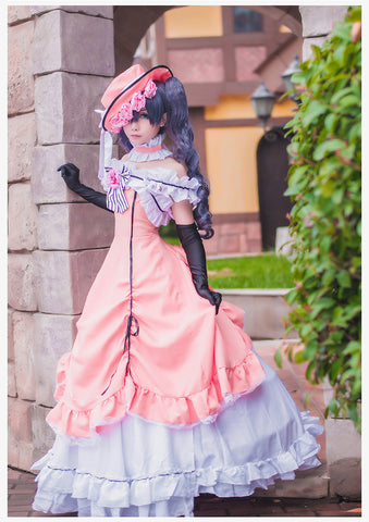 Black Butler Ciel Phantomhive Kuroshitsuji Pink Lolita Cosplay Costume Dress