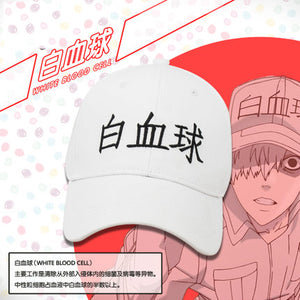 Cells at Work Hataraku Saibou White blood cell Neutrophil Kochukyu Cosplay Cap Hat