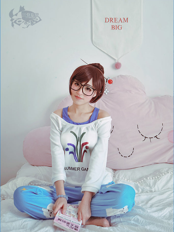 Overwatch Mei Rise and Shine Cosplay Costume Pajama