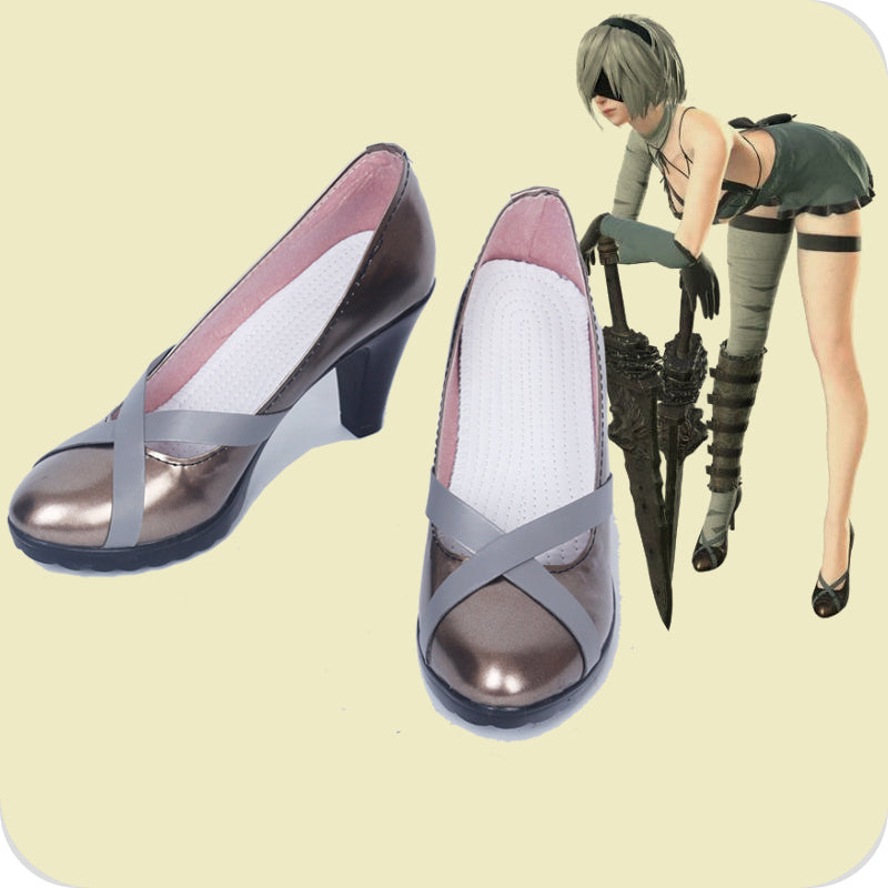 NieR Automata DLC YoRHa No. 2 Type B 2B Cosplay Shoes
