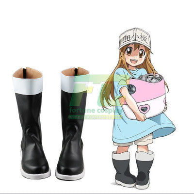 Cells at Work Hataraku Saibou White blood cell Neutrophil Kochukyu Cosplay Shoes Boots
