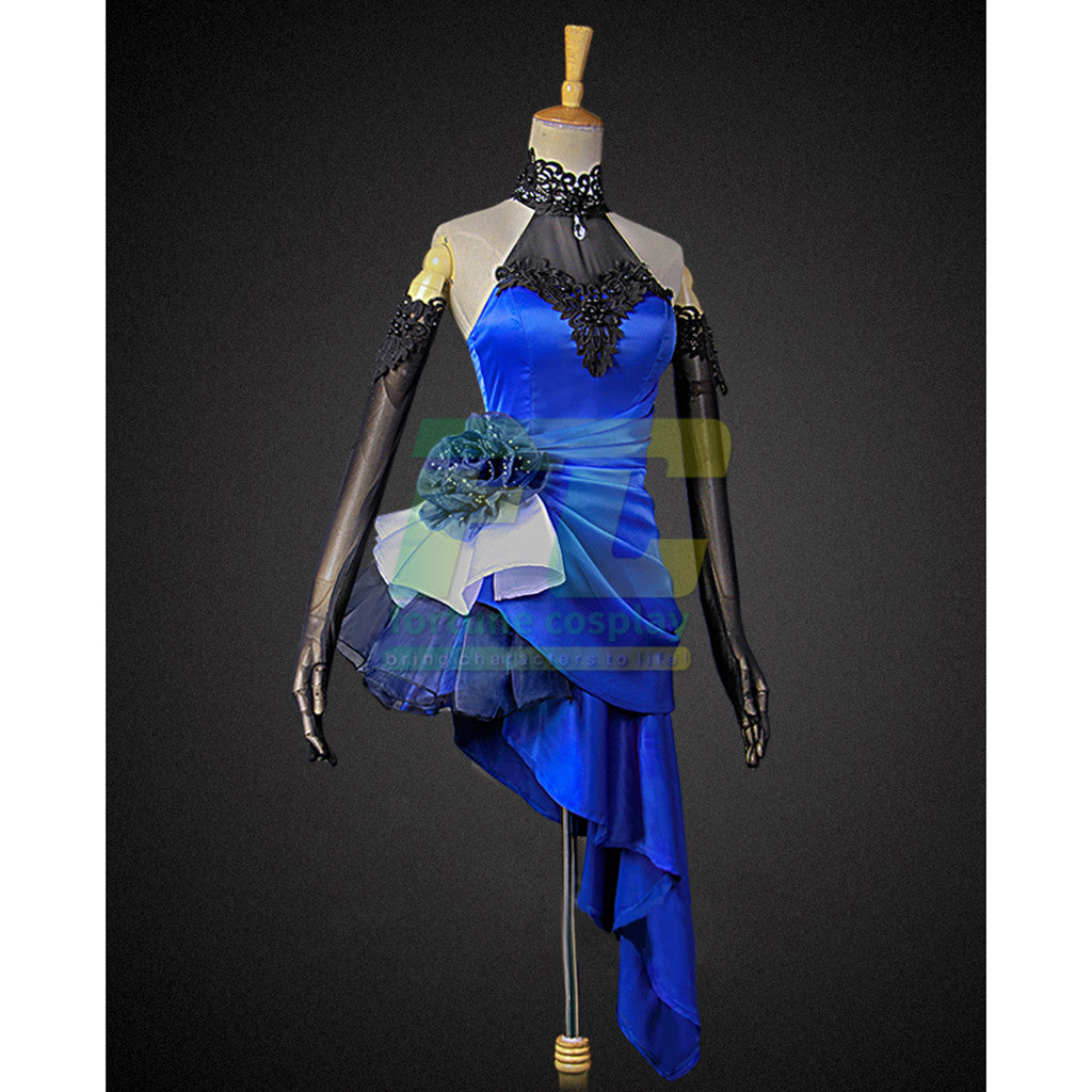 Fate extella fate zero saber cosplay costume Fate Grand Order blue party dress - fortunecosplay