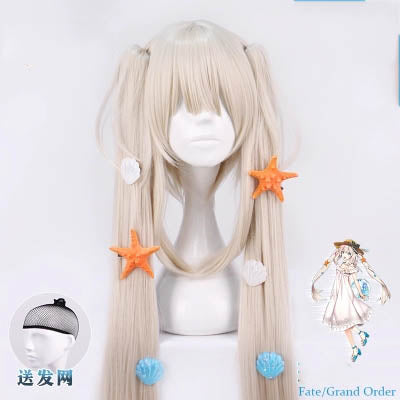 Fate/Grand Orde Cosplay FGO Marie Antoinette Joan of Arc daily white summer dress cosplay wig