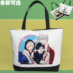 Load image into Gallery viewer, Yuri on Ice Victor Nikiforov Cute Shoulder Bag Pouch Handbag Canvas Bag