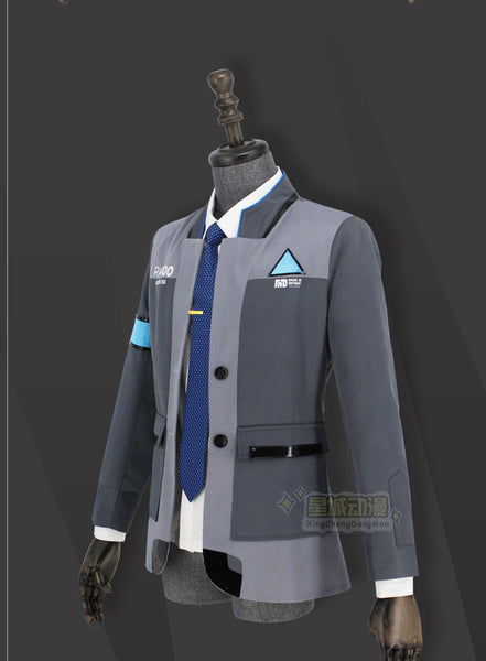 Detroit: Become Human Connor RK800 Agent Suit Uniform Cosplay Costume