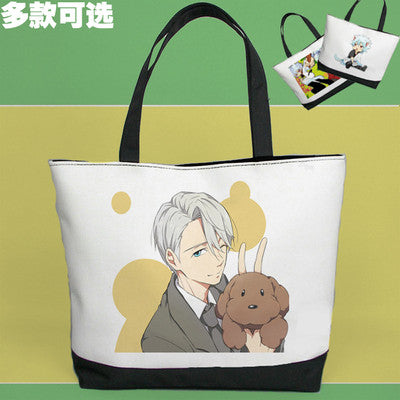Yuri on Ice Victor Nikiforov Cute Shoulder Bag Pouch Handbag Canvas Bag