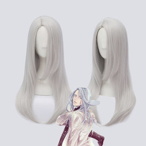 YURI!!! on ICE Young Victor Nikiforov Long Silver Straight Synthetic Cosplay Wig