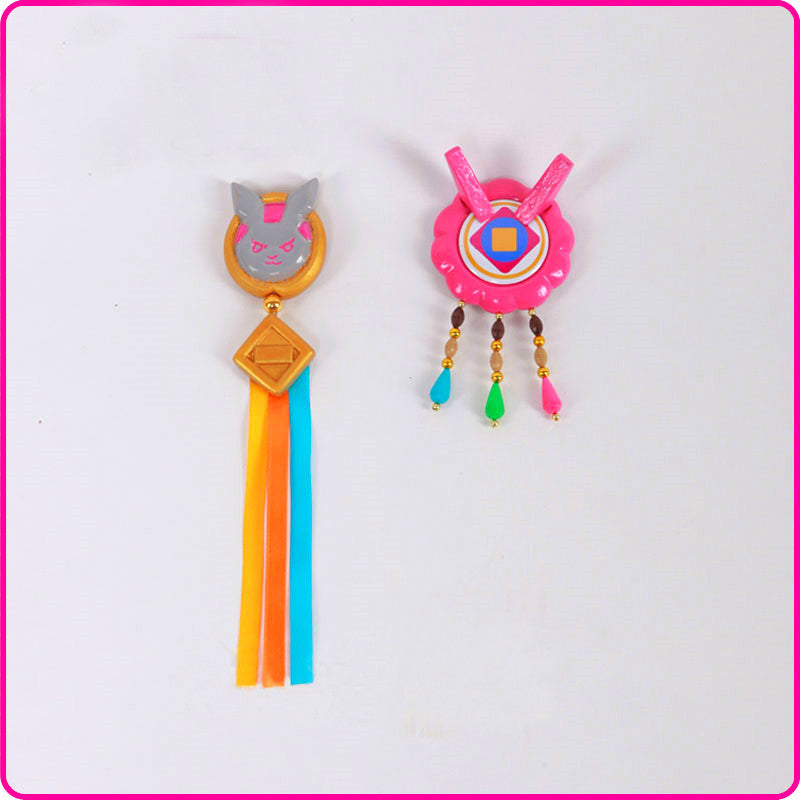 Overwatch D.VA New Year Korean cosplay props hair pin accessory